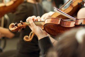 closeup violin being played